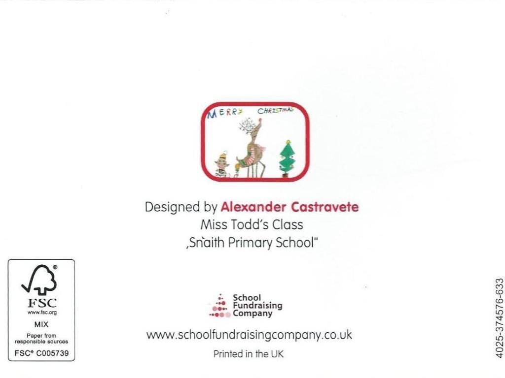 Alexander's School Christmas Card